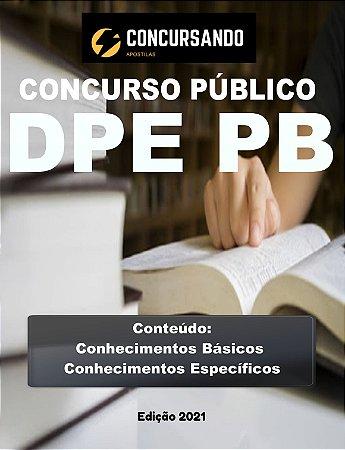 Apostila DPE PB 2021 Agente Administrativo
