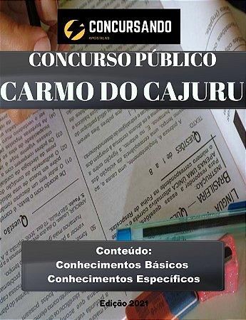 Apostila PREFEITURA DE CARMO DO CAJURU MG 2021 Farmacêutico 20H