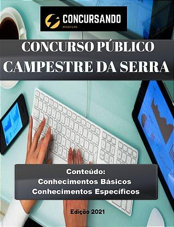 Apostila PREFEITURA DE CAMPESTRE DA SERRA RS 2021 Engenheiro Civil