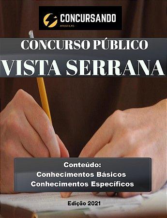 Apostila PREFEITURA DE VISTA SERRANA PB 2021 Enfermeiro