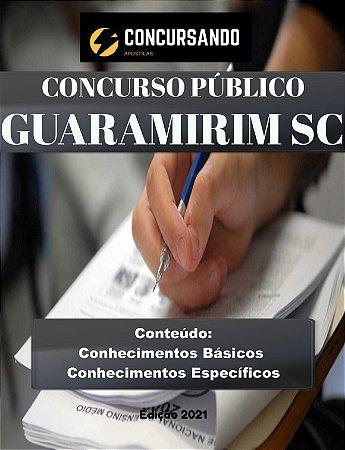 APOSTILA PREFEITURA DE GUARAMIRIM SC 2021 PROFESSOR DE EDUCAÇÃO FÍSICA