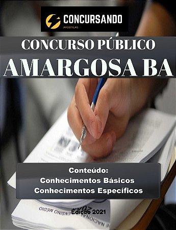 APOSTILA PREFEITURA DE AMARGOSA BA 2021 ASSISTENTE SOCIAL
