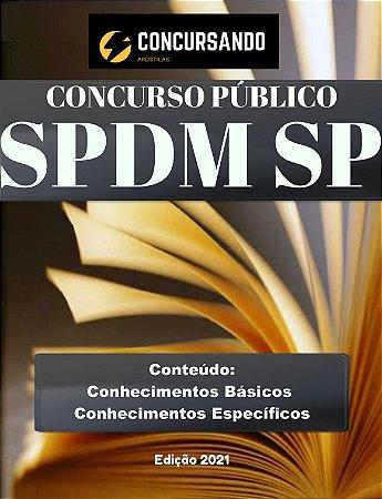 APOSTILA SPDM SP 2021 AUXILIAR TÉCNICO - SAÚDE MENTAL