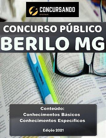 Apostila PREFEITURA DE BERILO MG 2021 Pedagogo(a)