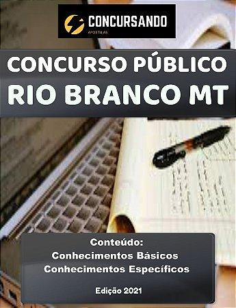 APOSTILA PREFEITURA DE RIO BRANCO MT 2021 PROFESSOR DE EDUCAÇÃO FÍSICA