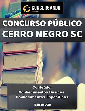 Apostila PREFEITURA DE CERRO NEGRO SC 2021 Fiscal de Vigilância Sanitária