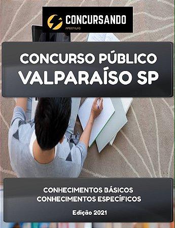 APOSTILA PREFEITURA DE VALPARAÍSO SP 2021 PSICÓLOGO
