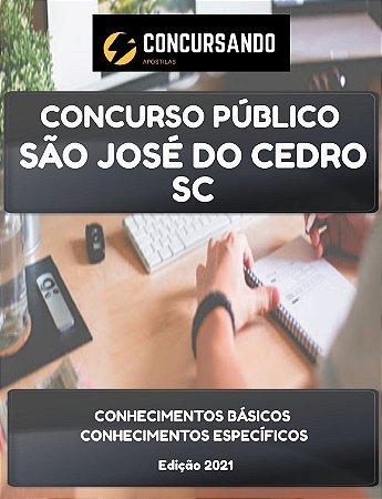 APOSTILA PREFEITURA DE SÃO JOSÉ DO CEDRO SC 2021 TÉCNICO EM ENFERMAGEM - ESF