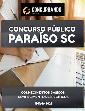 APOSTILA PREFEITURA DE PARAÍSO SC 2021 ASSISTENTE ADMINISTRATIVO