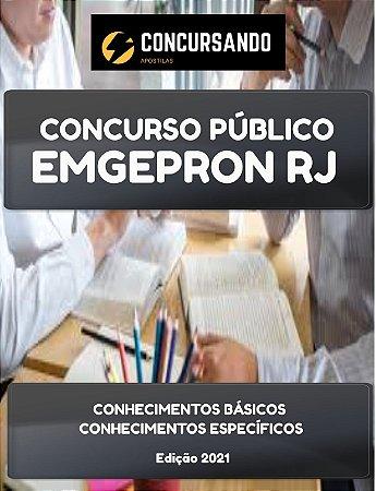 APOSTILA EMGEPRON RJ 2021 ENGENHEIRO PLANEJAMENTO E CONTROLE