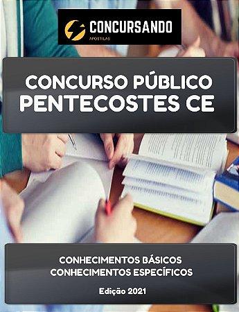 APOSTILA PREFEITURA DE PENTECOSTES CE 2021 AUXILIAR DE SAÚDE BUCAL