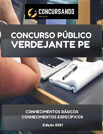 APOSTILA PREFEITURA DE VERDEJANTE PE 2021 NUTRICIONISTA