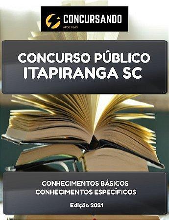 APOSTILA PREFEITURA DE ITAPIRANGA SC 2021 TÉCNICO EM ENFERMAGEM
