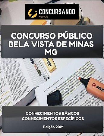 APOSTILA PREFEITURA DE BELA VISTA DE MINAS MG 2021 PSICÓLOGO