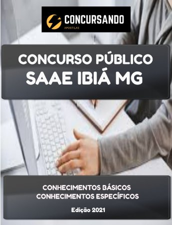 APOSTILA SAAE IBIÁ MG 2021 TÉCNICO EM SANEAMENTO