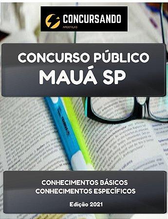 APOSTILA PREFEITURA DE MAUÁ SP 2021 PROFESSOR DE INGLÊS