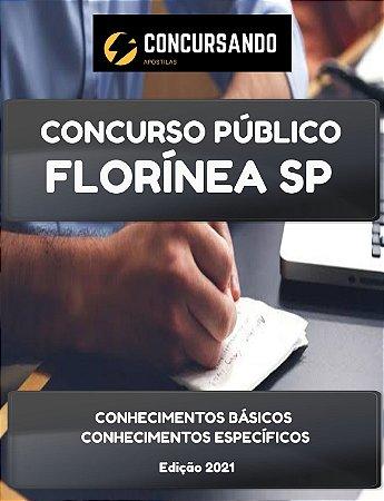 APOSTILA PREFEITURA DE FLORÍNEA SP 2021 AGENTE DE CONTROLE DE VETORES