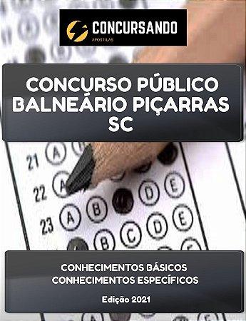 APOSTILA PREFEITURA DE BALNEÁRIO PIÇARRAS SC 2021 AGENTE DE COMBATE ÀS ENDEMIAS