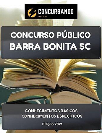 APOSTILA PREFEITURA DE BARRA BONITA SC 2021 FISCAL SANITARISTA