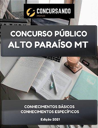 APOSTILA PREFEITURA DE ALTO PARAÍSO MT 2021 ENGENHEIRO SANITARISTA