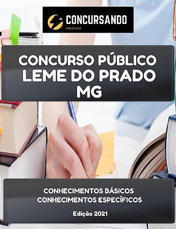 APOSTILA PREFEITURA DE LEME DO PRADO MG 2021 AUXILIAR DE SAÚDE BUCAL