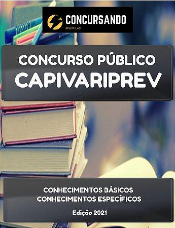 APOSTILA CAPIVARIPREV 2021 AGENTE ADMINISTRATIVO E PREVIDENCIÁRIO