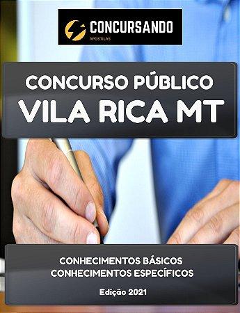 APOSTILA PREFEITURA DE VILA RICA MT 2021 ESCRITURÁRIO