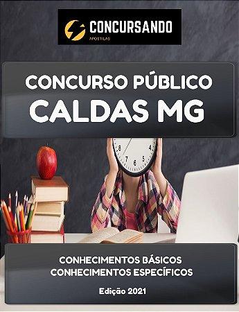 APOSTILA PREFEITURA DE CALDAS MG 2021 FISCAL DE TRIBUTOS