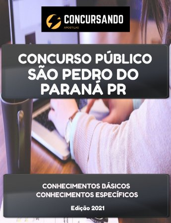 APOSTILA PREFEITURA DE SÃO PEDRO DO PARANÁ PR 2021 PSICOPEDAGOGO