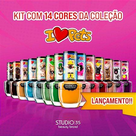 Esmaltes Vegano Studio 35 Coleção #IlovePets - Kit 14  Cores