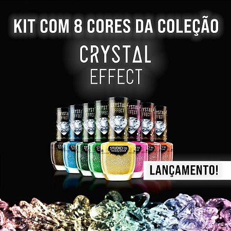 Esmaltes Vegano Studio 35 Coleção Crystal Effect III - Kit 8 Cores - Lançamento