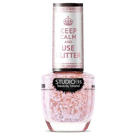 Esmalte Studio 35 #FlocosDeNeve - Coleção Use Glitter