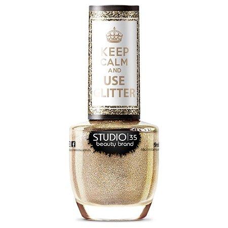 Esmalte Studio 35 #AmoChampanhe - Coleção Use Glitter