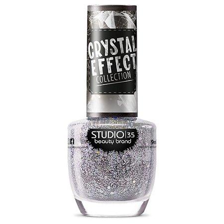 Esmalte Fortalecedor Studio 35 #ChuvaDePrata - Coleção Crystal Effect