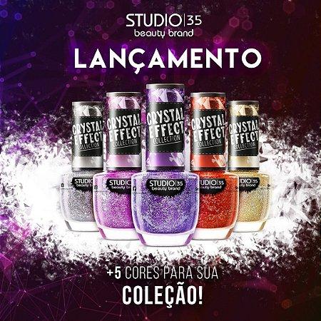 Esmaltes Studio 35 Coleção Crystal Effect 2020 - Kit 5 Cores