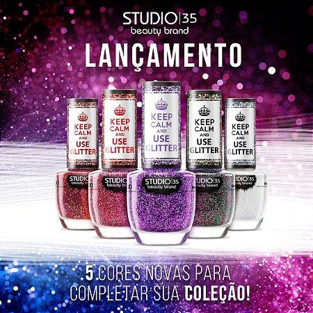 Esmaltes Studio 35 Coleção Use Glitter 2020 - Kit 5 Cores