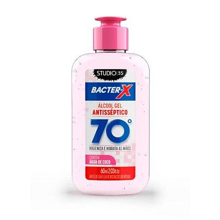 Álcool Gel pra bolsa Bacter-X 70% Antisséptico - Água de Coco - 60ml