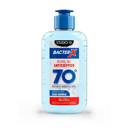 Álcool Gel pra bolsa Bacter-X 70% Antisséptico - Algas Marinhas - 60ml
