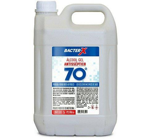 Álcool Gel Bacter-X 70% Antisséptico - Neutro - 5L