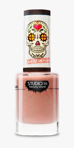 Esmalte Fortalecedor Studio 35 #AvidaéUmaFesta - Coleção Caveira Mexicana