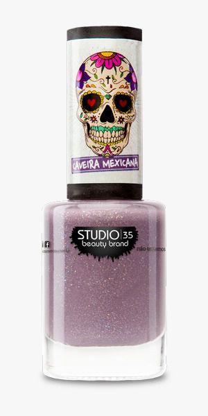 Esmalte Fortalecedor Studio 35 #MemóriasBoas - Coleção Caveira Mexicana