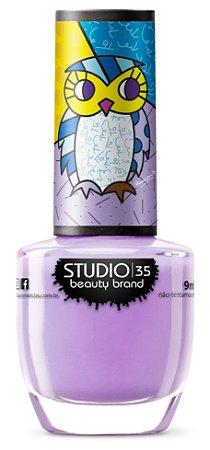 Esmalte Vegano Studio 35 CorujaMisteriosa - Coleção Romero Britto