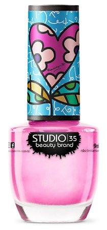 Esmalte Fortalecedor Studio 35 #RosaDoMeuCoração - Coleção Romero Britto