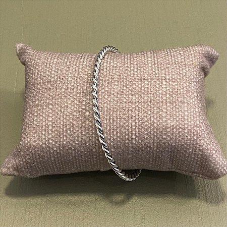 Bracelete Trançado - Prata