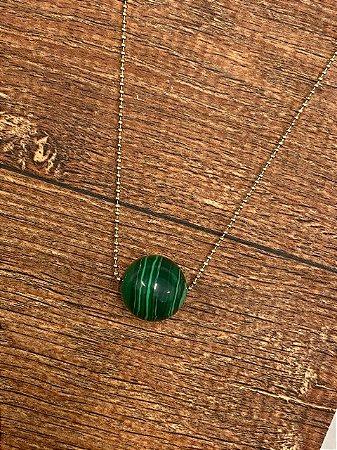 Colar de bola de Malaquita Verde