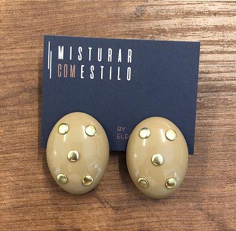 Brinco Cristina Oval - Nude
