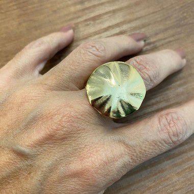 Anel de Chapa - Dourado