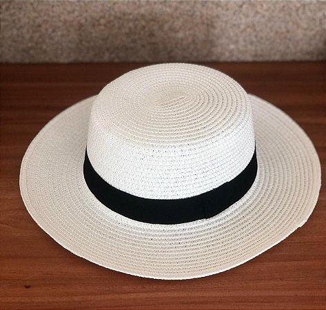 Chapéu de Palha Quadrado - Off