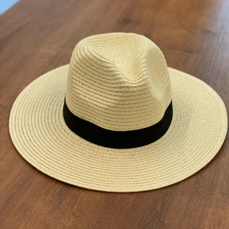 Chapéu de Palha Tipo Panamá - Off