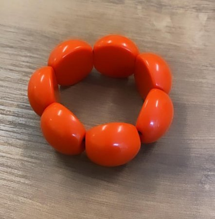 Bracelete de Bolas de Resina - Laranja